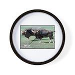 Gaur Bulls Photo Wall Clock