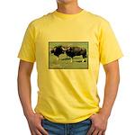 Gaur Bulls Photo Yellow T-Shirt