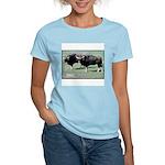 Gaur Bulls Photo (Front) Women's Pink T-Shirt