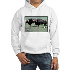 Gaur Bulls Photo (Front) Hooded Sweatshirt