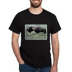 Gaur Bulls Photo (Front) Black T-Shirt
