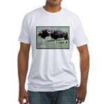 Gaur Bulls Photo (Front) Fitted T-Shirt