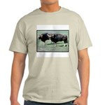 Gaur Bulls Photo Ash Grey T-Shirt