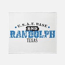 Randolph Air Force Base Throw Blanket