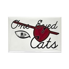 One Eyed Cats Rectangle Magnet