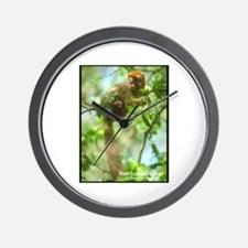 Red-Fronted Lemur Photo Wall Clock