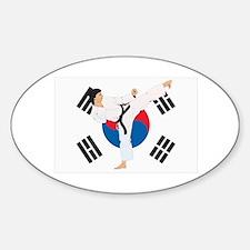 Taekwondo Sticker (Oval)