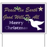 Christmas peace Yard Signs