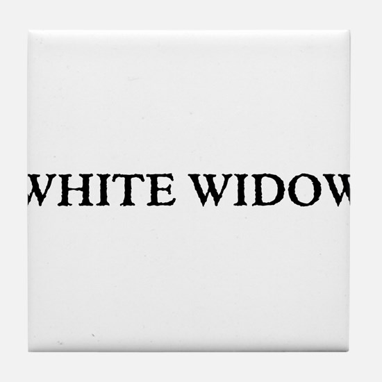 White Widow Tile Coaster
