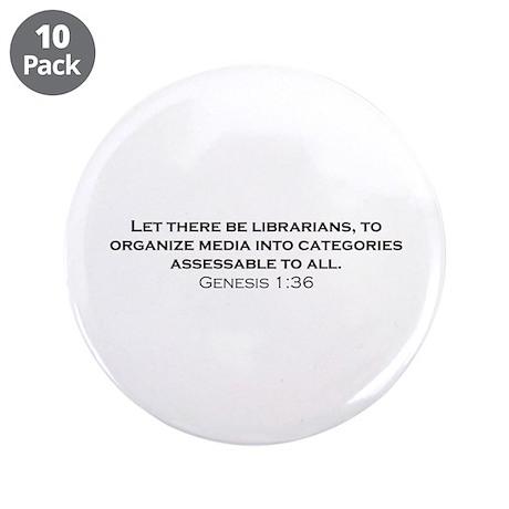 "Librarians / Genesis 3.5"" Button (10 pack)"