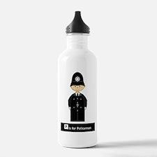 Cute British Policeman Water Bottle