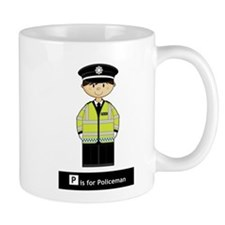 Cute British Policeman Coffee Small Mug (Small)