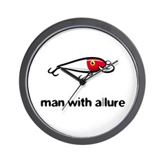 Man with Allure Wall Clock