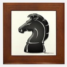 Chess Knight Framed Tile