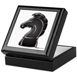 Chess black knight Square Keepsake Boxes