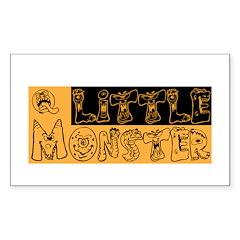 Little Monster Sticker (Rectangle 50 pk)