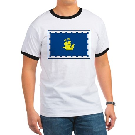 Quebec City Flag Ringer T