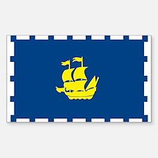 Quebec City Flag Rectangle Decal