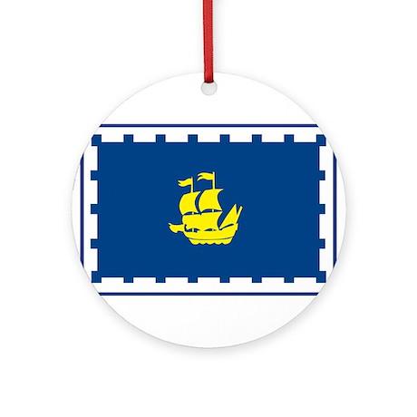 Quebec City Flag Ornament (Round)