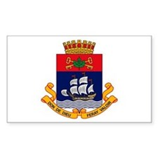 Quebec City Coat of Arms Rectangle Decal