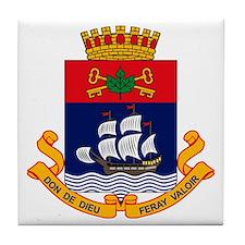 Quebec City Coat of Arms Tile Coaster