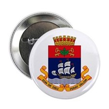 """Quebec City Coat of Arms 2.25"""" Button (10 pack)"""
