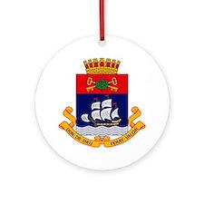 Quebec City Coat of Arms Ornament (Round)