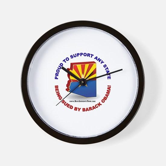 Support Arizona Wall Clock