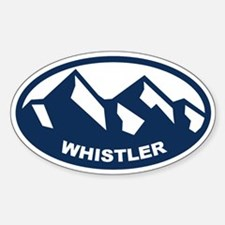 Whistler B.c. Sticker (oval)