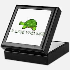 I Like Turtles Keepsake Box
