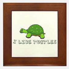 I Like Turtles Framed Tile