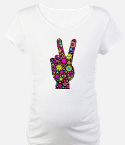 FLORAL PEACE HAND SIGN Shirt