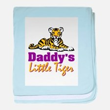 Daddy's Little Tiger Baby Blanket