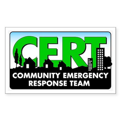 CERT Rectangle Sticker