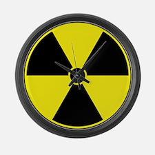 Yellow Radiation Symbol Large Wall Clock