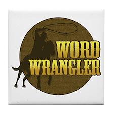 Word Wrangler Tile Coaster