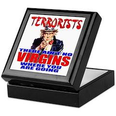 Anti-Terrorist Conservative Keepsake Box