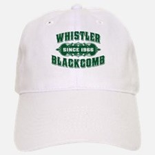 Whistler Blackcomb Old Green Baseball Baseball Cap