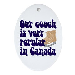 Popular coach Oval Ornament