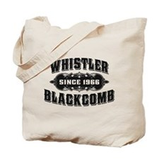 Whistler Blackcomb Old Black Tote Bag