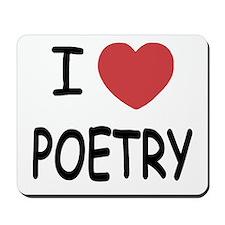I heart poetry Mousepad