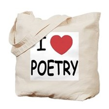 I heart poetry Tote Bag