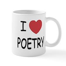 I heart poetry Mug