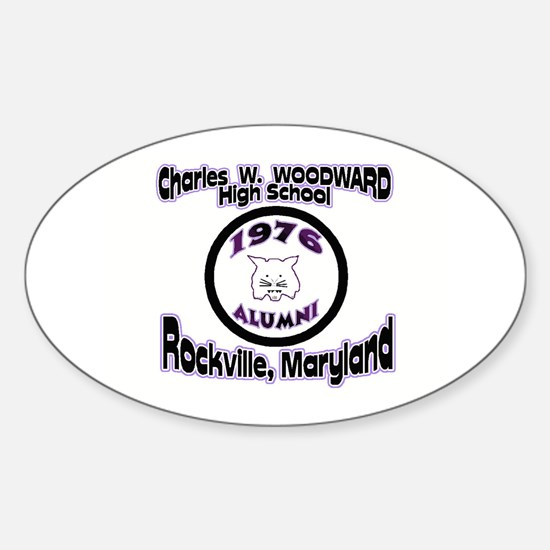 Charles W. Woodward 1976 Alum Oval Decal