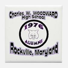 Charles W. Woodward 1976 Alum Tile Coaster