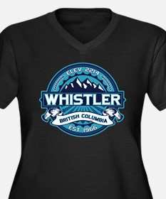 Whistler Ice Women's Plus Size V-Neck Dark T-Shirt