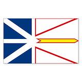 Newfoundland flag Stickers