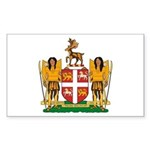 Newfoundland Coat of Arms Rectangle Sticker