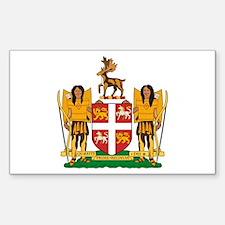 Newfoundland Coat of Arms Rectangle Decal