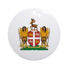 Newfoundland Coat of Arms Ornament (Round)